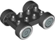 Part No: 88760c01pb02  Name: Duplo Car Base 2 x 4 with Black Tires and Whitewall and Silver Hubcap Wheels Pattern (88760 / 88762c01pb02)