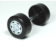 Part No: 88762c01pb03  Name: Duplo Wheel Double Assembly with Metal Axle and Light Bluish Gray Sport Pattern