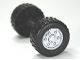 Part No: 88762c02pb02  Name: Duplo Wheel Double Assembly With Tread with Metal Axle and Silver Classic Pattern