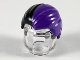 Part No: 92081pb03  Name: Minifigure, Hair Combed Front to Rear with Dark Purple Left Side Pattern