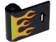 Part No: 92262pb002  Name: Door 1 x 3 x 2 Left - Open Between Top and Bottom Hinge with Red and Yellow Flames Pattern