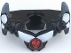 Part No: 93057pb01  Name: Minifigure, Armor Breastplate with Shoulder Spikes Gray Up and Ninjago Cracked Red Skull Pattern