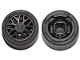 Part No: 93595c01  Name: Wheel 11mm D. x 6mm with 8 'Y' Spokes with Black Tire 14mm D. x 6mm Solid Smooth (93595 / 50945)