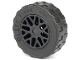 Part No: 93595c02  Name: Wheel 11mm D. x 6mm with 8 'Y' Spokes with Black Tire 17.5mm D. x 6mm with Shallow Staggered Treads - Band Around Center of Tread (93595 / 92409)