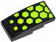 Part No: 93606pb013  Name: Slope, Curved 4 x 2 No Studs with Lime Hexagons Pattern (Sticker) - Set 70708