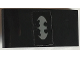 Part No: 93606pb078  Name: Slope, Curved 4 x 2 with Silver Batman Logo on Black Background Pattern (Sticker) - Set 70907