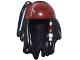 Part No: 95221pb02  Name: Minifigure, Hair Dreadlocks with Beads and Dark Red Brocade Bandana Pattern
