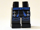 Part No: 970c00pb0217  Name: Hips and Legs with Blue Sash, Silver Buckles and Blue Knee Wrapping Pattern