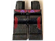 Part No: 970c00pb0370  Name: Hips and Legs with Dark Red and Dark Purple Markings Pattern
