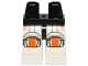 Part No: 970c01pb17  Name: Hips and White Legs with SW Republic Trooper Armor with Orange Knee Pads Pattern