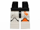 Part No: 970c01pb30  Name: Hips and White Legs with SW Clone Trooper and Orange Left Knee Pad and Two Stripes Pattern
