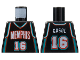 Part No: 973bpb136  Name: Torso NBA Memphis Grizzlies #16 Pattern