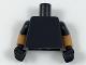 Part No: 973c79  Name: Torso Plain / Medium Dark Flesh Arms with Black Short Sleeves Pattern / Black Hands