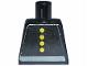 Part No: 973pb0028  Name: Torso Fire Uniform Four Button and Gray Belt Pattern (Sticker)
