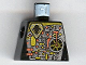 Part No: 973pb0078  Name: Torso Space UFO Circuitry with Red Lever Pattern