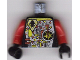 Part No: 973pb0078ac01  Name: Torso Space UFO Circuitry with Red Lever Pattern - LEGO Logo on Back / Red Arms / Black Hands
