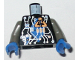 Part No: 973pb0080c01  Name: Torso Space Insectoids Blue Diamond under Circuitry Pattern / Dark Gray Arms / Blue Hands