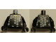 Part No: 973pb0166c01  Name: Torso Soccer Goalie Gray Hexagons and No. 1 Front and Back Pattern / Black Arms / Black Hands