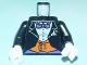 Part No: 973pb0222c01  Name: Torso Batman Suit with Orange Vest, Purple Bow Tie Pattern / Black Arms / White Hands