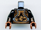 Part No: 973pb0228c01  Name: Torso SW Gold Body Armor Pattern (Lando Calrissian - Skiff Guard) / Black Arms / Reddish Brown Hands