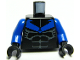 Part No: 973pb0230c01  Name: Torso Batman Nightwing Blue V Logo and Muscles Pattern / Blue Arms / Black Hands