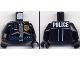 Part No: 973pb0289c01  Name: Torso Police Leather Jacket, Gold Badge, Radio, Ammo Belt, Police Pattern on Back / Black Arms / Black Hands