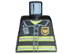 Part No: 973pb0300  Name: Torso Fire Uniform Badge and Stripes Pattern with Radio Pattern