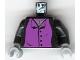 Part No: 973pb0312c01  Name: Torso Harry Potter Professor Snape 4 Black Buttons Pattern / Black Arms / Light Bluish Gray Hands