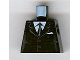 Part No: 973pb0322  Name: Torso Suit with 2 Buttons, Gray Sides, Gray Centerline and Tie Pattern