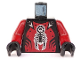 Part No: 973pb0347c01  Name: Torso Castle Knights Kingdom II with Scorpion Pattern / Dark Red Arms / Black Hands
