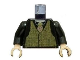 Part No: 973pb0473c01  Name: Torso Speed Racer Tweed Vest with Rep Striped Tie Pattern / Black Arms / Light Nougat Hands