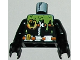 Part No: 973pb0519c01  Name: Torso Agents Villain Wetsuit with Zipper and Green Slime Pattern / Black Arms / Black Hands