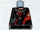 Part No: 973pb0598  Name: Torso Indiana Jones Robe with Red Trim and Ceremonial Necklace Pattern