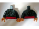 Part No: 973pb0603c01  Name: Torso Indiana Jones with Layered Shirt and Red Belt Pattern / Black Arms / Flesh Hands
