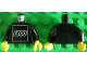 Part No: 973pb0679c01  Name: Torso White LEGO Logo Pattern on Front / Black Arms / Yellow Hands