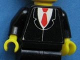 Part No: 973pb0737c01  Name: Torso Suit with Red Tie Pattern (Sticker) / Black Arms / Yellow Hands