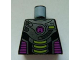 Part No: 973pb0898  Name: Torso Alien Conquest Alien Three Lime Bars Pattern