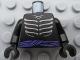 Part No: 973pb0912c01  Name: Torso Ninjago Skeleton Ribs Gray and Purple Waist Sash Pattern / Black Arms / Black Hands