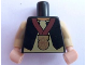 Part No: 973pb0971c01  Name: Torso Black Vest, White Shirt, Light Nougat Neck, Gold Medal Pattern / Tan Arms / Light Nougat Hands