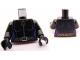Part No: 973pb1004c01  Name: Torso Batman Purple Female Outline, Ring Zipper Pull, Gray Belt Pattern / Black Arms / Black Hands