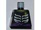 Part No: 973pb1019  Name: Torso Ninjago Skeleton Ribs White, Purple Waist Sash and Number 5 Pattern