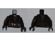 Part No: 973pb1043c01  Name: Torso SW Jedi Robe, Dark Brown Belt Pattern (Anakin Clone Wars) / Dark Brown Arms / Black Hands