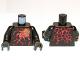 Part No: 973pb1194c01  Name: Torso Ninjago Red Energy Pattern (NRG Cole) / Black Arms / Black Hands