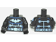 Part No: 973pb1249c01  Name: Torso Batman Logo Medium Blue with Wiring and Belt Front and Back Pattern / Black Arms with Electro Pattern / Black Hands
