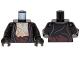 Part No: 973pb1275c01  Name: Torso LotR Jacket over Bare Chest, Dark Brown Sash Pattern / Black Arms / Black Hands