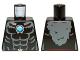 Part No: 973pb1374  Name: Torso Bare Chest with Muscles, Dark Bluish Gray Fur and Dark Azure Round Jewel (Chi) Pattern