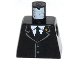 Part No: 973pb1623  Name: Torso Jacket Buttoned with Gold Badge on Collar, White Shirt and Black Tie Pattern
