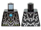 Part No: 973pb1642  Name: Torso Chima Silver Armor, Lime Diamonds and Dark Azure Round Jewel (Chi) Pattern