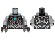 Part No: 973pb1642c01  Name: Torso Chima Silver Armor, Lime Diamonds and Dark Azure Round Jewel (Chi) Pattern / Flat Silver Arms / Black Hands