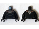 Part No: 973pb1840c01  Name: Torso Armor Silver and Red with Blue Muscles Pattern (Black Manta) / Black Arms / Black Hands